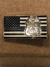 FBI -Thin Blue Line - American Flag - FBI Crest - Lapel Pin - Police/LEO/Mil/Gov