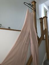 Zara Blush Pink Wide Legged Spaghetti Strap Full Length Jumpsuit Size S Summer