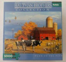 Hautman Brothers DOWN ON THE FARM Buffalo Games 1000 Piece Jigsaw Puzzle New