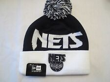 NEW ERA NBA WINTER FRESH POM SPORT KNIT BEANIE CAP HAT NEW JERSEY NETS