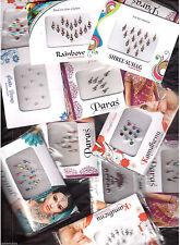 15 Different - Full Packets -Bollywood Tika Tikka BINDIS / Temporary Tattos -