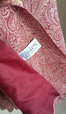 VINTAGE EASTEX 16 silky feel PAISLEY JACKET change buttons to update RED & CREAM