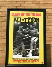 Muhammad Ali Mike Tyson Boxing Solid Wood Framed Textured Picture Print