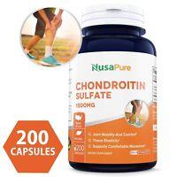 NusaPure Best Chondroitin Sulfate 1500mg 200caps (Non-GMO & Gluten Free)