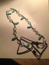 Infinity sterling silver and turquoise chocker