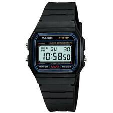 Casio Digital Casual Watch Classic Black Mens F-91W-1D