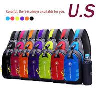Waterproof Unisex Chest Outdoor Sport Travel Shoulder Backpack + Kettle bag US