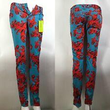 Rare Vtg Versace Jeans Blue Baroque Pants XS