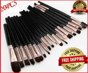 Makeup BRUSHES Set 20 pcs Kit Powder Foundation Eyeshadow Eyeliner Lip Brush