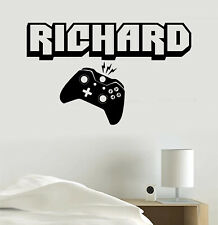 Video Game Decal Personalized Name or Gamer Tag Vinyl Sticker Wall Room Clip Art