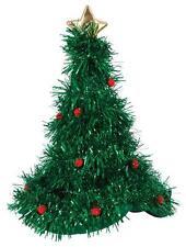ALBERO di Natale Cappello Con Fronzoli Costume Babbo Natale Xmas DRESS UP PARTY CAPPELLO xm4543