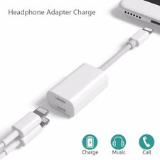 For iPhone X 8 7 Plus 2 in 1 iPhone Plug to Dual Headphone Adapter Charge Cable