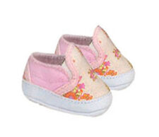 Pink Floral Slip on Sneakers Fits 18 inch American Girl Dolls