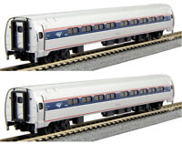 Kato N Scale 106-8002 Amtrak Amfleet I Phase VI Coach-Coach Two Car Set A New!
