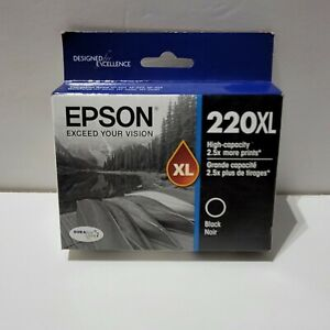 Epson 220XL High Capacity Ink Cartridge Black Genuine T220XL120 -Exp 01/2019