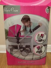 Silver cross doll pram 3 in 1 surf pink