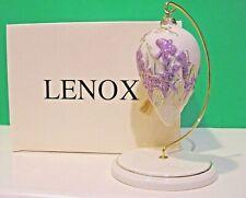 Lenox Springtime Splendor Iris Ornament with Stand New in Box Parvaneh Holloway