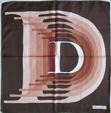 -Superbe Foulard  CHRISTIAN DIOR   100% soie  TBEG  vintage scarf  76 x 78 cm
