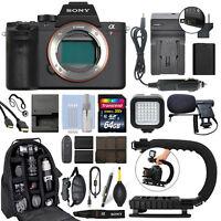 Sony Alpha a7R II Mirrorless 42MP 4K Digital Camera Body + 64GB Pro Video Kit