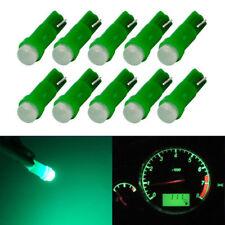 10Pcs Green T5 Car Cob LED Dashboard Cluster Gauge Lights  Bulbs 18 37 70