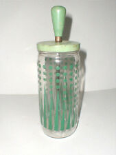Depression Glass Green Polka Dot Cocktail Mixer/Ice Crusher RARE