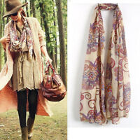 Hot Fashion Women's Chiffon Soft Scarves Long Wraps Shawl Winter Beautiful Scarf
