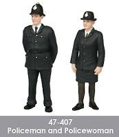 Scenecraft 47-407 Policeman & Policewoman Figures Pack (2PK) O Gauge