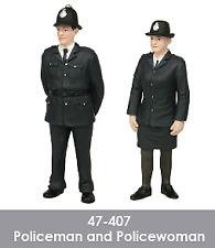 Bachmann Scenecraft 47-407 1 43 O Scale Policeman and Policewoman