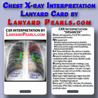 Chest X-Ray (CXR) Interpretation | Medical Lanyard Badge Card
