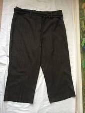 Larry Levine Petite Women's Gray Pinstripe Dress Capri Pants Size 12P NWT