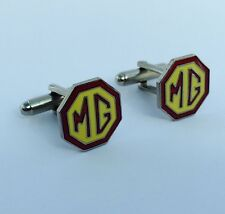 MG Car Chrome Plated Yellow/Red Cufflinks in gift box