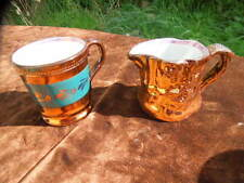 Small Old Sunderland Copper Lustre Mug - Cup - Coffee Can And Jug