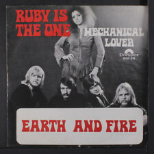 EARTH & FIRE: Ruby Is The One / Mechanical Lover 45 (Netherlands, PS, center in