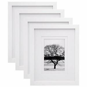 New ListingEgofine 8x10 Picture Frames 4 Pcs Made of Solid Wood Display 4x6 and 5x7 with.