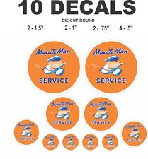 10 Minute Man Service Vinyl Decals