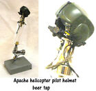 1/6 scale  Apache pilot helmet as beer tap