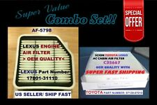 Combo Set Engine& Cabin Air Filter for NEW LEXUS GS350 GS430 IS250 IS350 @_@
