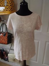 Size 16 T-shirt NWT by Papaya Essentials in Pink/White Floral Print Short Sleeve