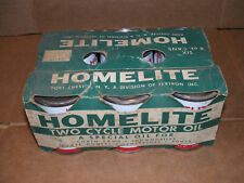 Homelite 6-Pack Vintage chainsaw two stroke oil, original case,  six 8oz cans