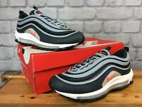 NIKE MENS UK 7 EU 41 AIR MAX 97 ANTHRACITE CRIMSON WOLF GREY TRAINERS RRP £145 E