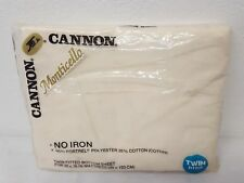 Cannon Monticello Twin Fitted Bottom Sheet Vintage Beige Unopened Unused