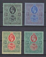 P130902/ BRITISH SIERRA LEONE / SG # 143 / 146 MINT MH CV 273 $
