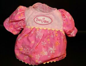 """Hasbro Baby Alive Baby Doll 16"""" 2006 PINK Dress Shirt REPLACEMENT Amazing RARE"""