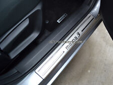 4 Pcs Stainless Door Sill Scuff Kick Plate Protector for Mazda 3 BM BN 2014-2017
