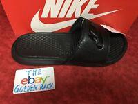76d4cc961c64 Nike Benassi JDI Men s Slide Black Black Slipper 343880 001 Free Ship SZ ...