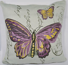 Cushion, Purple Butterfly with insert