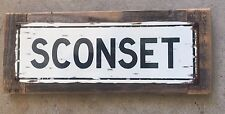 Sconset Nantucket Island Beach Ocean Vintage Metal Street Sign Summer Home Decor
