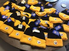 Vintage 80s Pittsburgh Steelers NEW W/ Tags Youth Winter Beanie Hat Caps NFL Boy