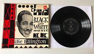 """RARE LP 10"""" DUKE ELLINGTON E LA SUA ORCHESTRA BLACK AND WHITE MUSIC 1957 RCA ITA"""
