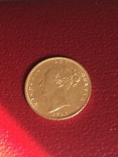 More details for 1876 queen victoria half sovereign shield back die 30